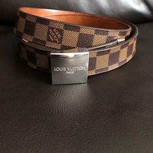 LOUIS VUITTON damier leather belt